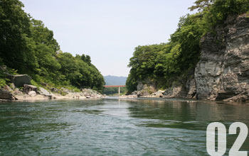 02.大河瀬から穏やかな流れへ