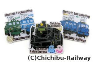 機関車ピンズ3個セット