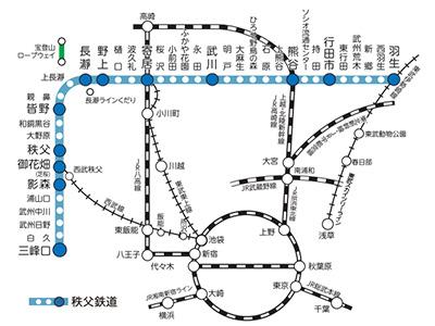 秩父鉄道線の路線図 - NAVITIME